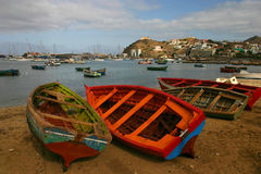Linea costiera del Capo Verde Fotografia Stock