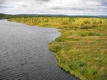 Linea costiera del fiume Fotografie Stock Libere da Diritti
