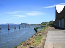 Linea costiera del fiume Columbia Fotografie Stock Libere da Diritti