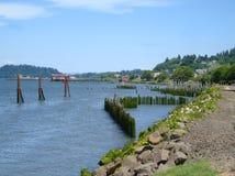 Linea costiera del fiume Columbia Fotografia Stock