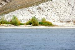 Linea costiera del fiume Don La Russia fotografie stock libere da diritti