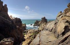 Linea costiera del Jersey Fotografie Stock Libere da Diritti