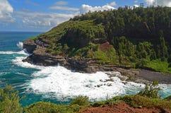Linea costiera del Kauai Immagini Stock