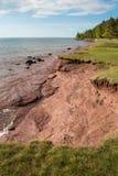 Linea costiera del lago Superiore Fotografia Stock
