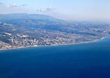 Linea costiera del Libano Fotografie Stock Libere da Diritti