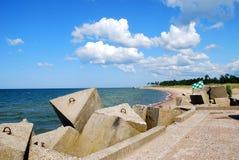 Linea costiera del Mar Baltico Fotografia Stock Libera da Diritti