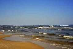Linea costiera del Mar Baltico Immagini Stock