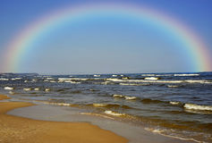 Linea costiera del Mar Baltico Immagine Stock
