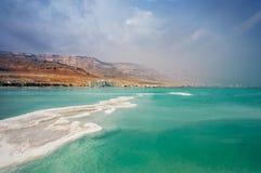 Linea costiera del mar Morto Fotografia Stock Libera da Diritti
