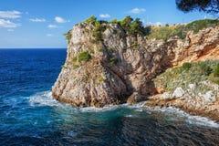 Linea costiera del mare adriatico in Croazia fotografia stock libera da diritti