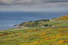 Linea costiera del mare di Nort a Navidale, Scozia Immagini Stock