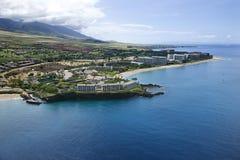 Linea costiera del Maui. Fotografia Stock