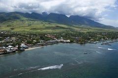 Linea costiera del Maui. Immagini Stock