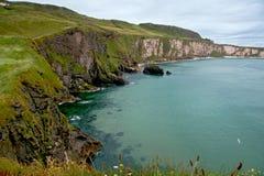 Linea costiera del nord dell'Antrim fotografie stock