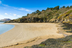 Linea costiera del parco nazionale di Snowdonia Fotografia Stock