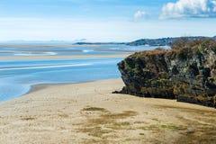 Linea costiera del parco nazionale di Snowdonia Fotografia Stock Libera da Diritti