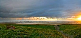 Linea costiera del puntello dell'Oregon fotografia stock libera da diritti