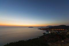Linea costiera del sud di Attica, Grecia Fotografie Stock