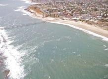 Linea costiera del sud di vista aerea Fotografia Stock