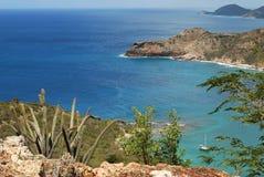 Linea costiera dell'Antigua Fotografia Stock
