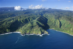 Linea costiera dell'Hawai. Fotografie Stock Libere da Diritti
