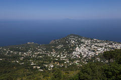 Linea costiera dell'isola di Capri, Capri, Italia Fotografie Stock Libere da Diritti