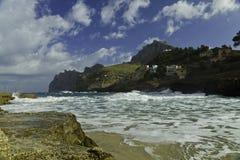 Linea costiera dell'isola di Maiorca immagini stock libere da diritti
