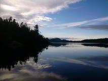 Linea costiera dell'isola di Vancouver immagine stock libera da diritti