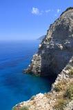 Linea costiera dell'isola e del mare ionico Fotografia Stock Libera da Diritti