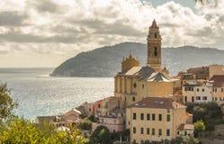 Linea costiera dell'Italia Fotografie Stock