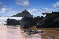 Linea costiera dell'Oahu Immagini Stock Libere da Diritti