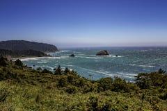 Linea costiera dell'Oregon fotografia stock libera da diritti