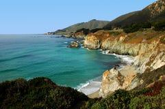 Linea costiera della baia del Monterey fotografia stock