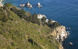Linea costiera della California Immagini Stock Libere da Diritti