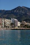 Linea costiera della città di Monte Carlo Monaco Fotografie Stock Libere da Diritti