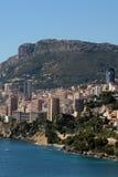 Linea costiera della città di Monte Carlo Monaco Fotografie Stock