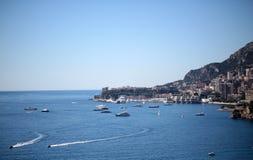Linea costiera della città di Monte Carlo Monaco Immagini Stock