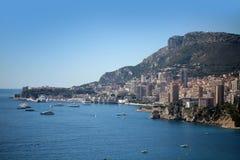 Linea costiera della città di Monte Carlo Monaco Fotografia Stock