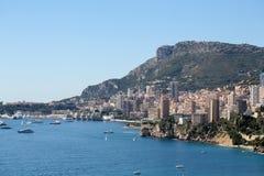 Linea costiera della città di Monte Carlo Monaco Immagine Stock Libera da Diritti
