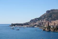 Linea costiera della città di Monte Carlo Monaco Fotografia Stock Libera da Diritti