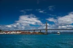 Linea costiera della città di Stavanger immagine stock
