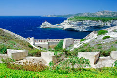 Linea costiera della Corsica Immagini Stock