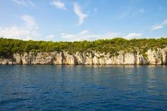 Linea costiera della Croazia, isola di Ciovo Fotografie Stock