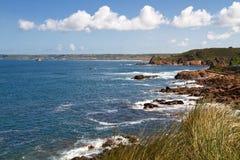 Linea costiera della Jersey, isola della Manica, Regno Unito Immagini Stock