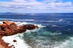 Linea costiera della Nuova Inghilterra Fotografia Stock