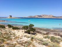 Linea costiera della Sardegna del nord, Italia Immagini Stock
