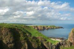Linea costiera della Scozia durante la b Fotografia Stock