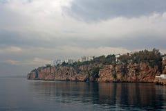 Linea costiera di Adalia Turchia Immagini Stock Libere da Diritti