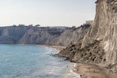 Linea costiera di Agrigento, Sicilia fotografia stock libera da diritti