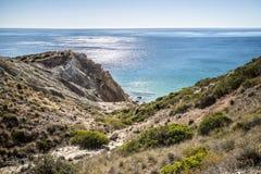 Linea costiera di Algarve, Portogallo Fotografie Stock Libere da Diritti